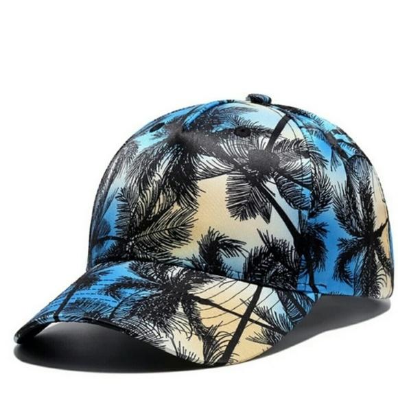 fbad0fb579fbf Blue Unisex Tropical Coconut Tree Cap